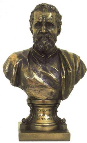 Photo of Michelangelo Bronze Figurine Bust