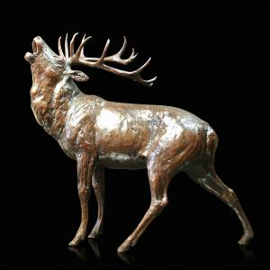 Photo of Roar of the Highlands Stag Bronze Statue (Limited Edition) Michael Simpson 27 cm