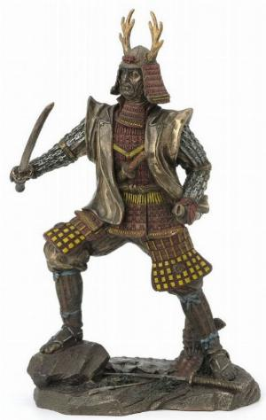 Photo of Samurai Warrior Bronze Figurine