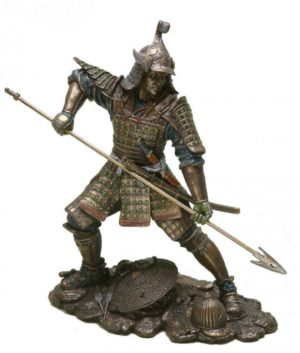 Photo of Samurai with Spear Bronze Figurine