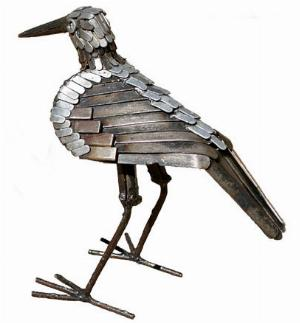 Photo of Sandpiper Bird Metal Garden Sculpture (Upright)