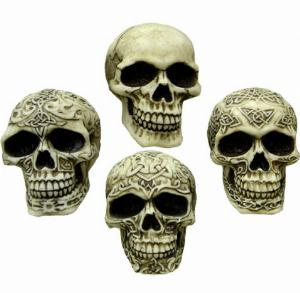 Photo of Sinister Smiles (Pack of 4 Skulls) 7 cm
