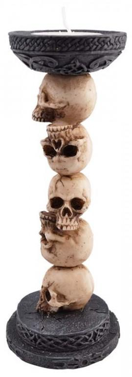 Photo of Skull Column Tea Light Holder