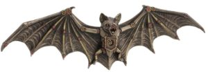Photo of Steampunk Bat Bronze Wall Plaque Figurine 34 cm