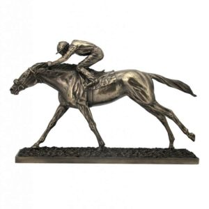 Photo of The Final Straight Bronze Horse Sculpture Large