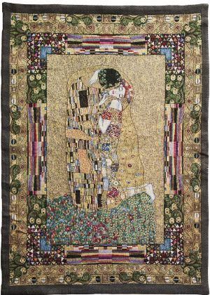 Phot of The Kiss By Gustav Klimt Wall Tapestry I