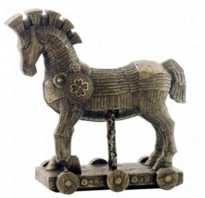 Photo of The Trojan Horse Bronze Figurine