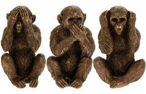 Photo of Three Wise Monkeys Ornaments Leonardo Collection