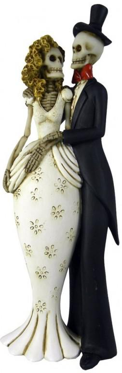 Photo of Til Death Do Us Part Skeleton Figurine 26cm