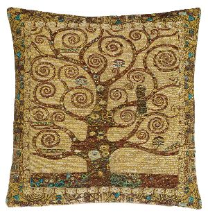 Phot of Tree Of Life By Gustav Klimt Tapestry Cushion
