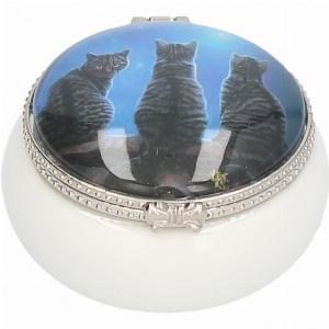 Photo of Wish Upon a Star Cats Small Trinket Box (Lisa Parker) 5.5cm