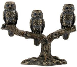 Photo of 3 Owls Candlestick Holders