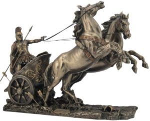 Photo of Achilles in Chariot Bronze Statue 37 cm