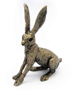 Photo of Alarmed Hare Bronze Figurine (Thomas Meadows)