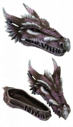 Photo of Amethyst Fury Purple Dragon Incense Box 28cm