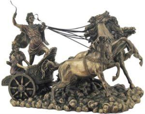 Photo of Apollo on Chariot Bronze Figurine Large