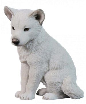 Photo of Arctic Wolf Puppy Figurine