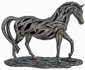 Photo of Assured Contemporary Bronze Horse Figurine Large 46 cm