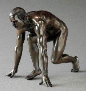 Photo of Athlete Man Bronze Figurine