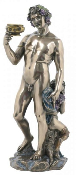 Photo of Bacchus God of Wine Bronze Statue
