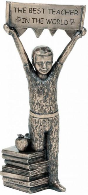 Photo of Best Teacher (Boy) Bronze Figurine