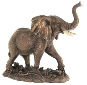 Photo of Bull Elephant Bronze Figurine