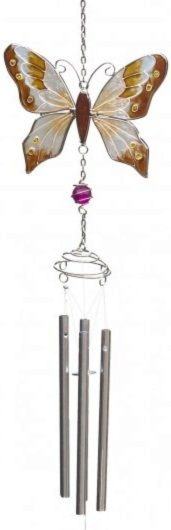 Photo of Butterfly Wind Chime Coffee 69cm