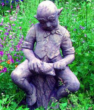 Photo of Cobbler Goblin Stone Garden Sculpture