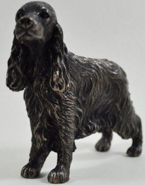 Photo of Cocker Spaniel Standing Bronze Dog Sculpture Small