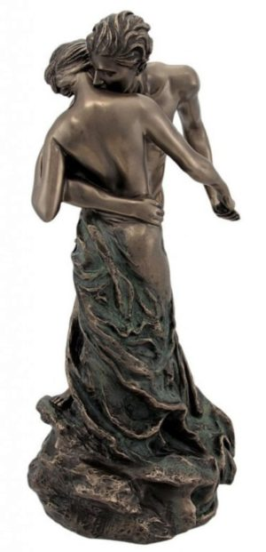 Photo of Couple Embracing Nude Statue The Waltz (Camille)