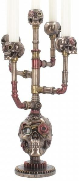 Photo of Cranial Candelabra Steampunk Bronze Candle Holder