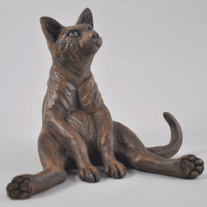 Photo of Felix Cat Bronze Sculpture Pippa Hill