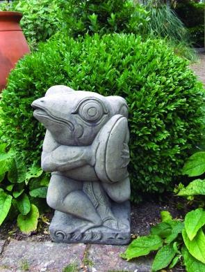 Photo of Frog with Cymbols Stone Statue