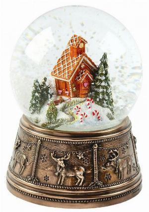 Photo of Gingerbread House Bronze Snow Globe