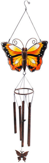 Photo of Golden Yellow Butterfly Wind Chime Large