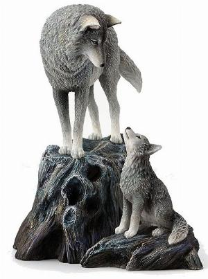 Photo of Guidance Wolf and Cub Figurine (Lisa Parker)