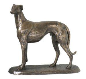 Photo of Gus the Greyhound Standing Bronze Sculpture
