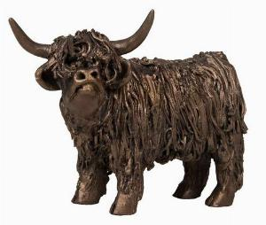 Photo of Highland Cow Standing Junior Bronze Sculpture Small