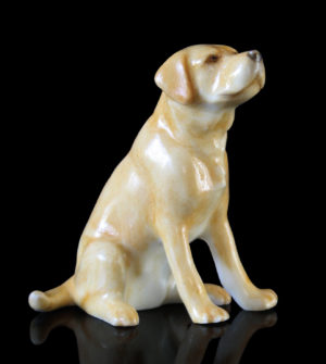 Photo of Labrador Hand Painted Fine Bone China Miniature Figurine
