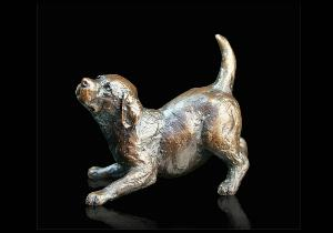 Photo of Labrador Puppy Playing Small Figurine (Limited Edition) Michael Simpson