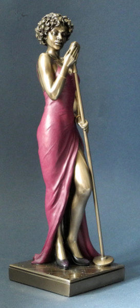 Photo of Lady Singer Jazz Bronze Figurine