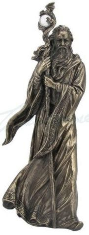Photo of Merlin Bronze Figurine 28 cm