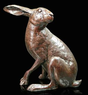 Photo of Moonlight Hare Bronze Figurine (Limited Edition) Michael Simpson