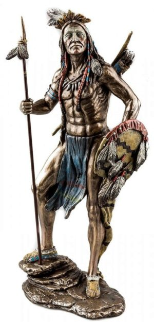 Photo of Native American Warrior Bronze Figurine