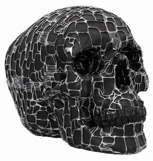 Photo of Neural Network Black Skull Cyberpunk Ornament