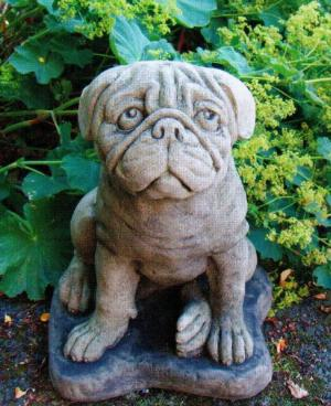 Photo of Pug Dog Stone Statue