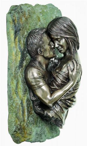 Photo of Romantic Couple Bronze Wall Plaque 25cm