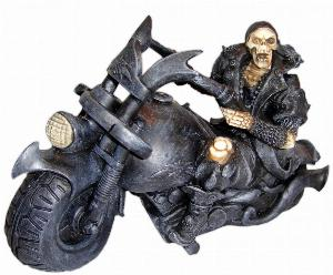 Photo of Screaming Wheels Skeleton Biker Ornament 18 cm