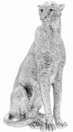 Photo of Silver Art Cheetah Statue
