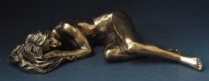 Photo of Slumber Nude Female Bronze Figurine